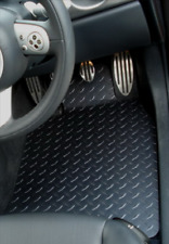 AUDI TT MK2 2006 - 2014 SEAT COUPE (8J3) BLACK RUBBER FLOOR MATS WITH 4 CLIPS