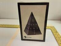1988 Black 4-D Design Time Pyramid Quartz Desk Clock Made in Taiwan
