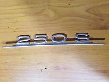 Mercedes Benz Model Badge 250S W108 sedan