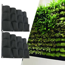 24 Pocket Planter Outdoor Vertical Garden Wall Planting Hanging Bag for Herb Pot