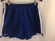 Under Armour Men's Short Runing Shorts Sz MD Blue Athletic Inner Pocket