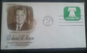 US Stamp Cover, 1974 Richard M. Nixon Resigns from the Presidency #U557