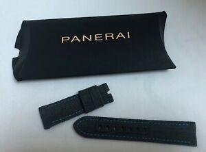 OFFICINE PANERAI 24mm Watch Wristband / Strap Canvas Green - Blue Stitching, NIP