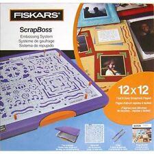 FISKARS SCRAPBOSS EMBOSSING SYSTEM SCRAPBOOK STENCIL TRAY NEW