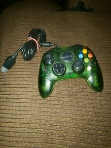 XBOX Original Halo Special Edition Controller Translucent Green Tested