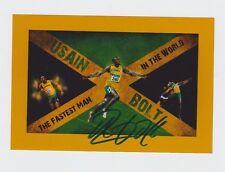 Orig.Autogramm  USAIN BOLT (Jamaica) 6 Olympische Goldmedaillen / A  !!  RARITÄT