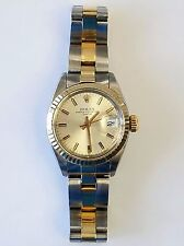 Pre-Owned Rolex Oyster Perpetual Date Steel & 14K Gold Ref: 6917 Ladies Watch