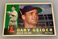 1960 Topps # 184 Gary Geiger Boston Red Sox Baseball Card