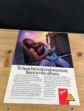 1989 VINTAGE 8X11 PRINT Ad FOR Fender HM SERIES GUITARS WITH GREG HOWE HIGH GEAR