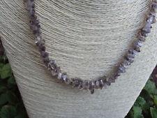 wunderschöne, Herkimer Diamant Kette, 47 cm lang, große Kristalle,Heilstein