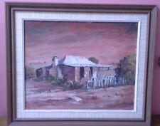 Original Acrylic, Muquahart '77, Untitled Country House Landscape, Signed LLHS