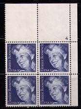 US USA Sc# 2105 MNH FVF PLATE # BLOCK Eleanor Roosevelt First Lady
