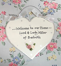 Shabby Chic WELCOME Sign ~ New Home ~ Wedding Plaque Present Gift