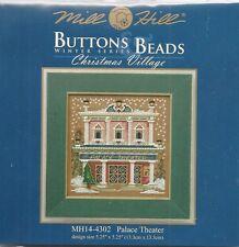 Christmas Village Palace Theater Cross Stitch Glass Bead Kit by Mill Hill