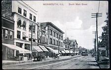 MONMOUTH  IL~1908 SOUTH MAIN STREET ~ MAJESTIC THEATRE ~ DRUG STORE ~  DOWNTOWN