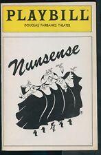 Playbill - Nunsense - Douglas Fairbanks Theater