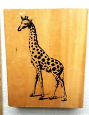 Vintage rubber stamp 1999 Anita's Large Beautiful Giraffe stamping scrapbook