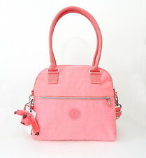 NWT Kipling Cadie Satchel Bag with Furry Monkey Dazzling Pink
