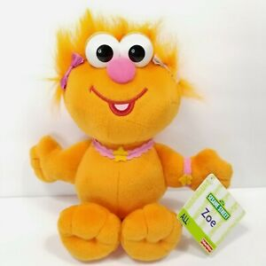 "Fisher Price Sesame Street Zoe Orange Monster Plush Stuffed Muppet 11"" w/ Tags"