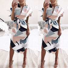 Women Floral Casual Dress Ladies Party Evening Summer Beach Holiday Sundress