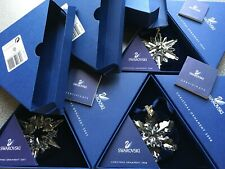 Swarovski 2006/2007/2008 SET of Large Christmas Ornaments, Complete & Perfect!!!