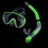 Semi-Dry Snorkel & Diving Mask Set - Impact Resistant Tempered Glass Snorkeling