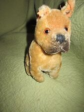 Vintage Steiff Germany Boxer Sitting Mohair Glass Eyes  has pin