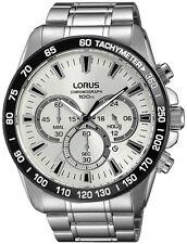 Nuovissimo Cronografo Lorus Gents Inossidabile TACHEOMETRO rubare Watch rt319fx9