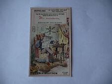 CHROMO PUBLICITAIRE CHOCOLAT GUERIN-BOUTRON N°192 GRAPHOLOGIE