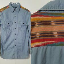 Ralph Lauren Polo Men's Sz S Aztec Southwestern Navajo Tribal Western Shirt