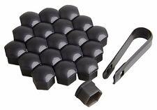 17mm Black Wheel Nut Bolt Covers Caps For VOLVO SAAB DACIA Set of 20pcs