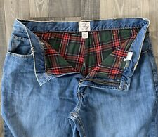 St Johns Bay Flannel Lined Relaxed Fit Jeans Size 40x30 - SHIPS FREE!!