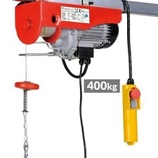 Paranco elevatore elettrico argano verricello montacarichi 400 kg 230v