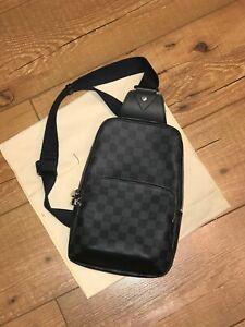 Louis Vuitton Avenue Sling Bag (Damier Graphite)