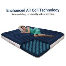Inflatable queen High Raised Air Bed Mattress Airbed W Built-in Electric Pump