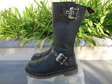 Demonia DISORDER 304, Combat Edgy Black Calf Boot Mens' US4 UK3, Wmns US6, EU36