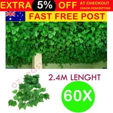 60X 2.4M Artificial Leaf Ivy Vine Plant Garland Fake Foliage Home Garden Deco AU