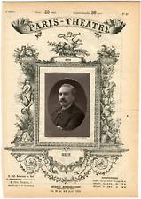 Lemercier, Paris-Théâtre, Louis-Henry Obin (1820-1895), chanteur Vintage albumen