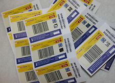3 Stück DHL PAKETMARKE  EU 20 kg Preis regul 99 euro Paketmarken Europa Versand