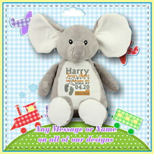 Personalised Teddy Bears, Embroidered teddies,Birthday/Christening/New baby Gift