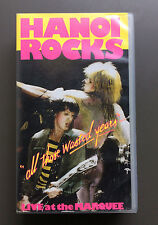 HANOI ROCKS - All Those Wasted Years VHS PAL Video VG Glam Rock Mike Monroe