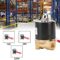 """1/4"""" DC Brass Normally Closed Electric Solenoid Valve BSP(G) Gas Water Air N/C"""