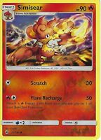 POKEMON SUN & MOON BURNING SHADOWS CARD: SIMISEAR - 23/147 - REVERSE HOLO