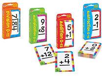 4 paquetes de las tarjetas Flash Niños Matemáticas-suma, resta, multiplicación, división