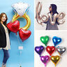 5pc Foil Heart Balloon Diamond Love Helium Metallic Birthday Wedding Party Decor