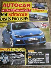AUTOCAR MAGAZINE NOV 2009 SCIROCCO R TVR USED SPECIAL SUBARU LEGACY RENAULT EV