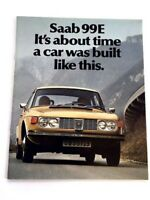 1972 Saab 99 99E 20-page Original Car Sales Brochure Catalog