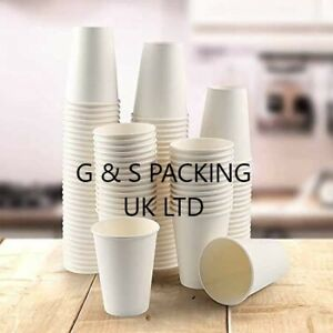 50 X 8oz Single Wall White Paper Cups (PACK OF 50)