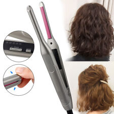 2 in 1 Flat Iron LED Hair Straightener Twisted Plate Ceramic Curling Hair Curler
