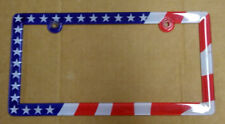 American Flag License Plate Frame Red White and Blue